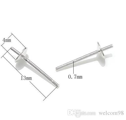 / 925 Sterling Silver Earring Needles Pins Constatations Composants Pour DIY Artisanat Bijoux 0.7x4x13mm WP014 * Livraison Gratuite