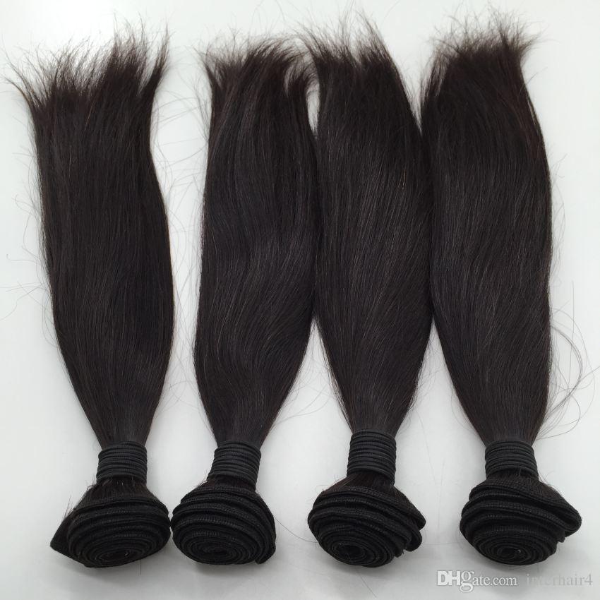 3 teile / los gerade reines Haar Bundles spinnt, brasilianisches peruanisches malaysisches Haar, kein Sheding keine Verwicklung weiche gerade Menschenhaarverlängerung