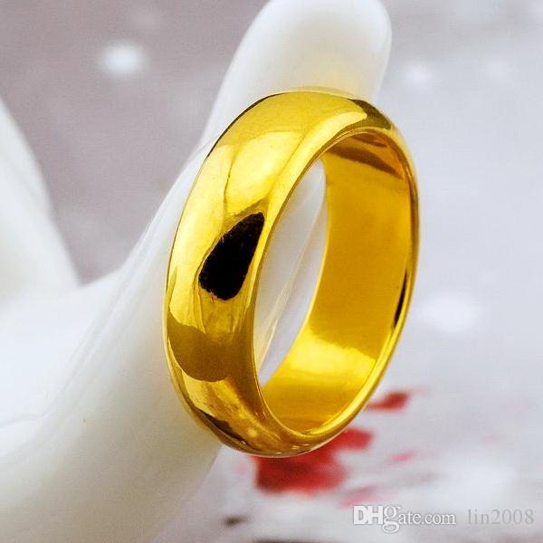 and women yellow classic for men jewelry rings never products titanium wedding gold steel filled fading