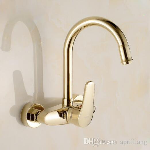 2018 Brand New Wall Mounted Kitchen Sink Faucet Bathroom Basin Hot ...