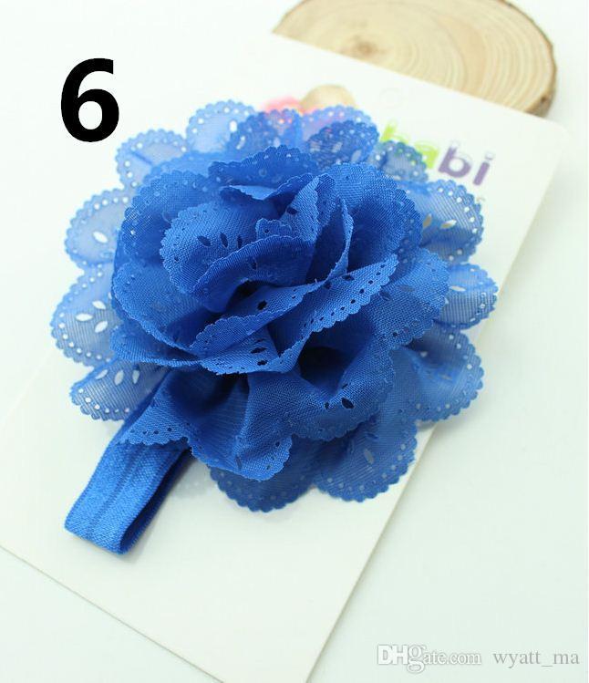 Europäische und amerikanische Kinder Kopfschmuck Baby Mais Blume elastische Haarband Baby Stirnband Hohlwelle Rand elegante Baby Haarband