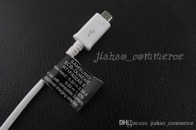 100% Orijinal Siyah Etiket Ile 1.5 M Mikro USB Data Sync Şarj Kablosu akıllı telefon için, cep telefonu, android telefon