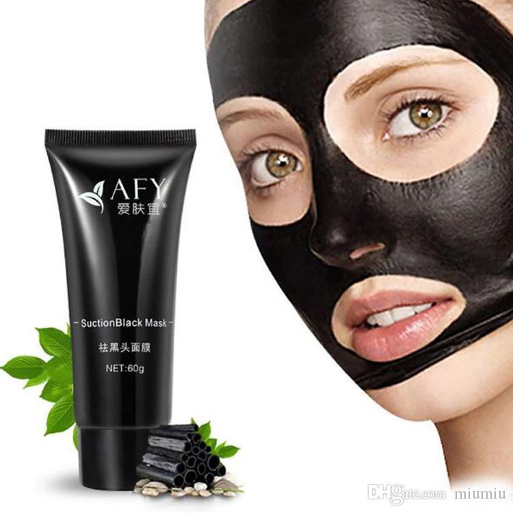 AFY suction nose remover black mask deep cleansing face mask face care nature Pore Cleaner black mud mask 60g DHL Free Ship