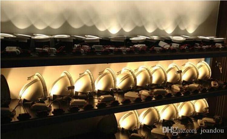 Usine vente Chaude Réglable 15W 25W 35W Super COB LED Gimbal Embedded led lampe de coffre Round COB shoplighter 85-265V LED Downlight