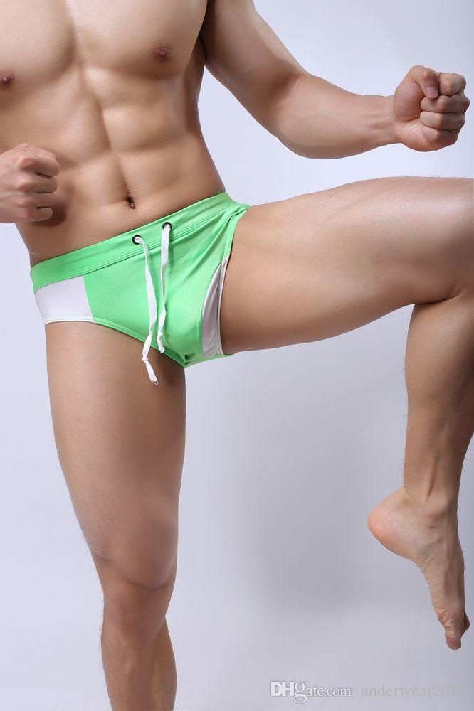wholesale mens Briefs nylon swimwear board shorts Beach Swimsuits ncluding inner pocket 36