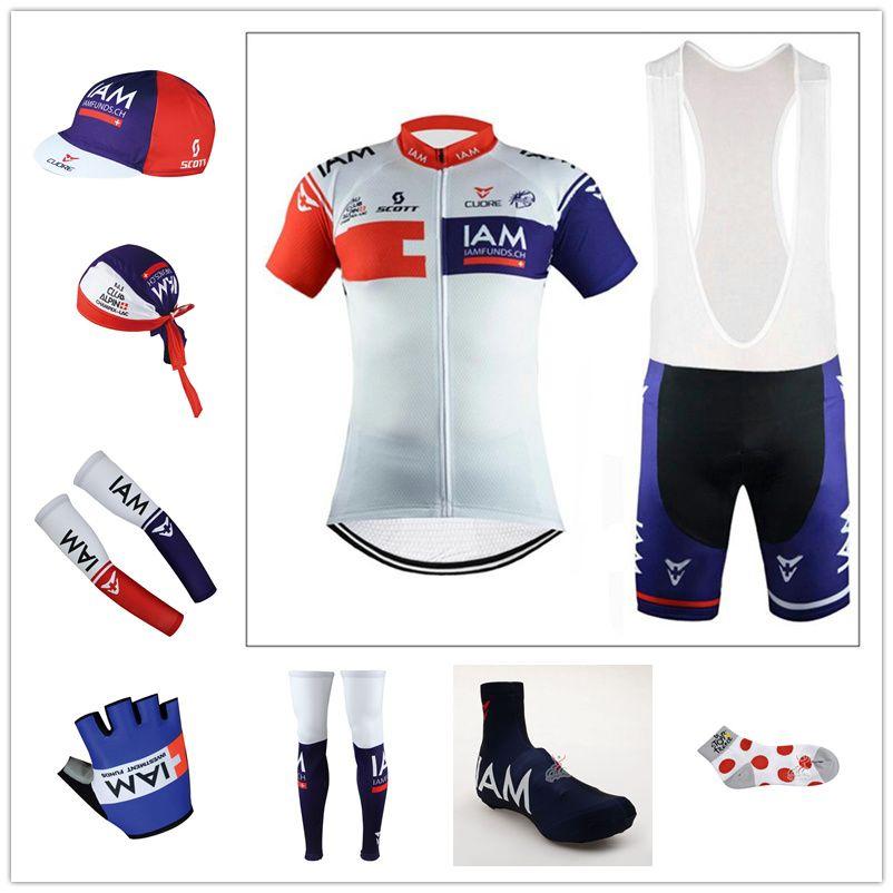 2016 Team IAM Cycling Jerseys Short Sleeve Bib Sets   Arms   Gloves   Legs    Caps   Scarf   Shoes Covers   Cycling Socks Cycling Jersey Design Cycling  Shirt ... 4b174deb2