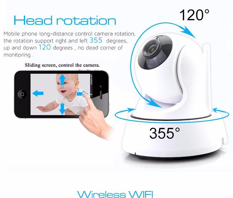 Amplificador Wifi Repeater Ip Camera Wireless Mini Cctv P2p Baby Monitor Security P/t Micro Tf Card free Ios & Android App