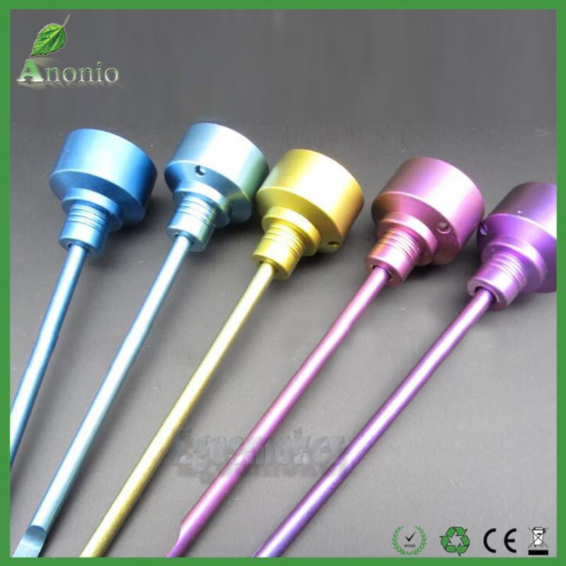 Qualitäts-Rauchzubehör Anodized Farbe gr2 Titanium Carb-Kappe mit Dabble Oben hat eine abgewinkelte Bohrung Titanium Carb Cap Dab Werkzeuge