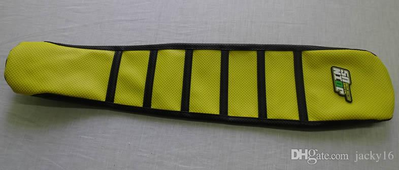 Factory direct sale:dirt bike seat cover mixed wholesale YELLOW rib grip seat cover for suzuki RMZ250 10~17 RM125 racing parts
