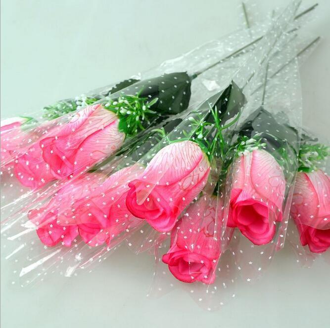 Atacado preço único rosa com amor e fragrância flor de seda flores artificiais seis cores para escolher HR020
