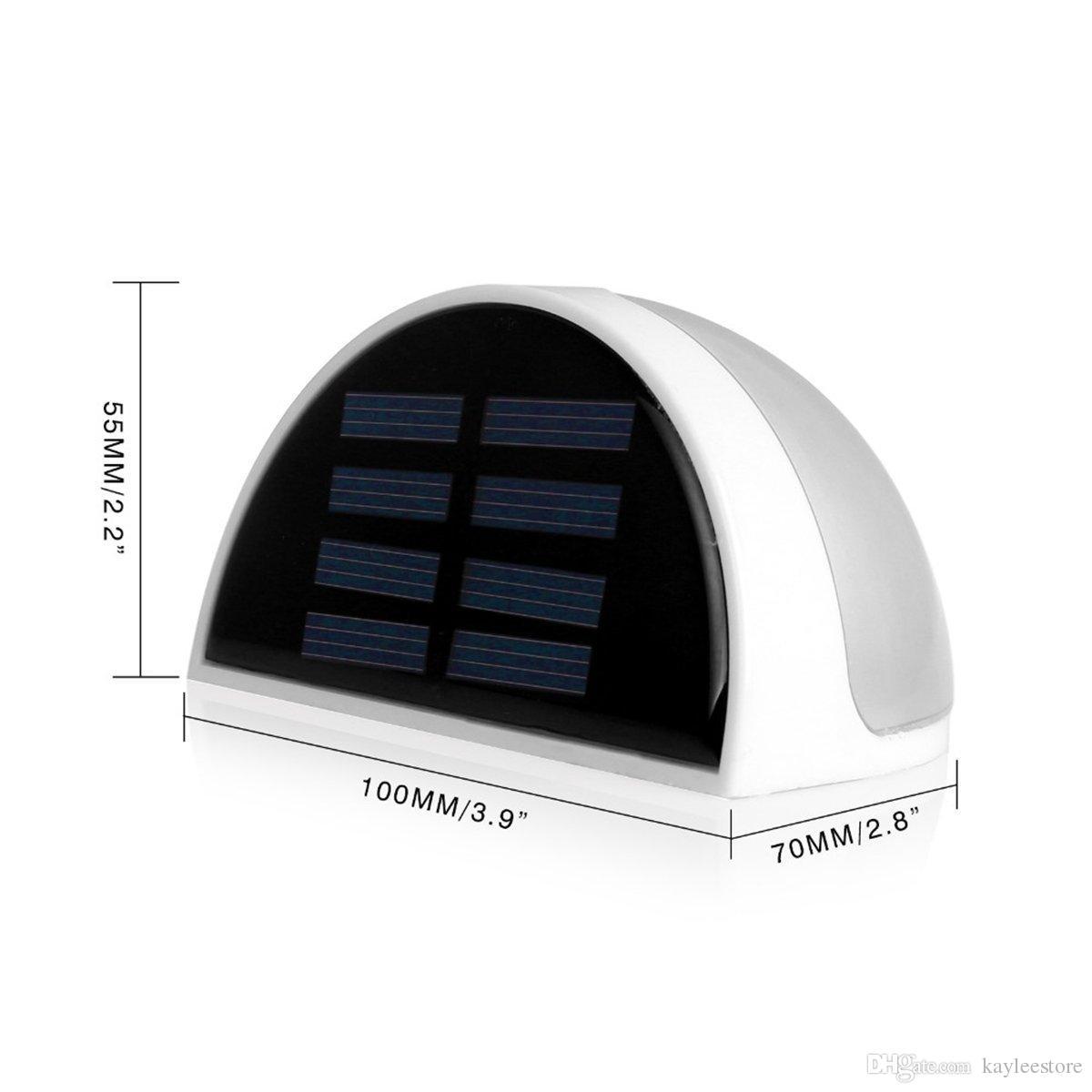 Hotsale Energia Solar Powered Saving Eficiente Brilhante 6 LED Prático Telhado de Calha Jardim Parede Caminho Passo Passadi ...
