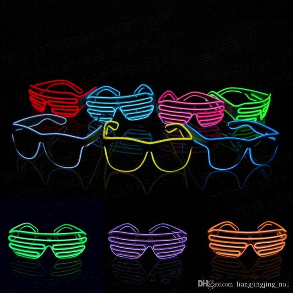 2018 el wire neon led light up shutter party glasses lighting 2018 el wire neon led light up shutter party glasses lighting classic bright light festival glasses ooa3787 from liangjingjingno1 565 dhgate solutioingenieria Image collections
