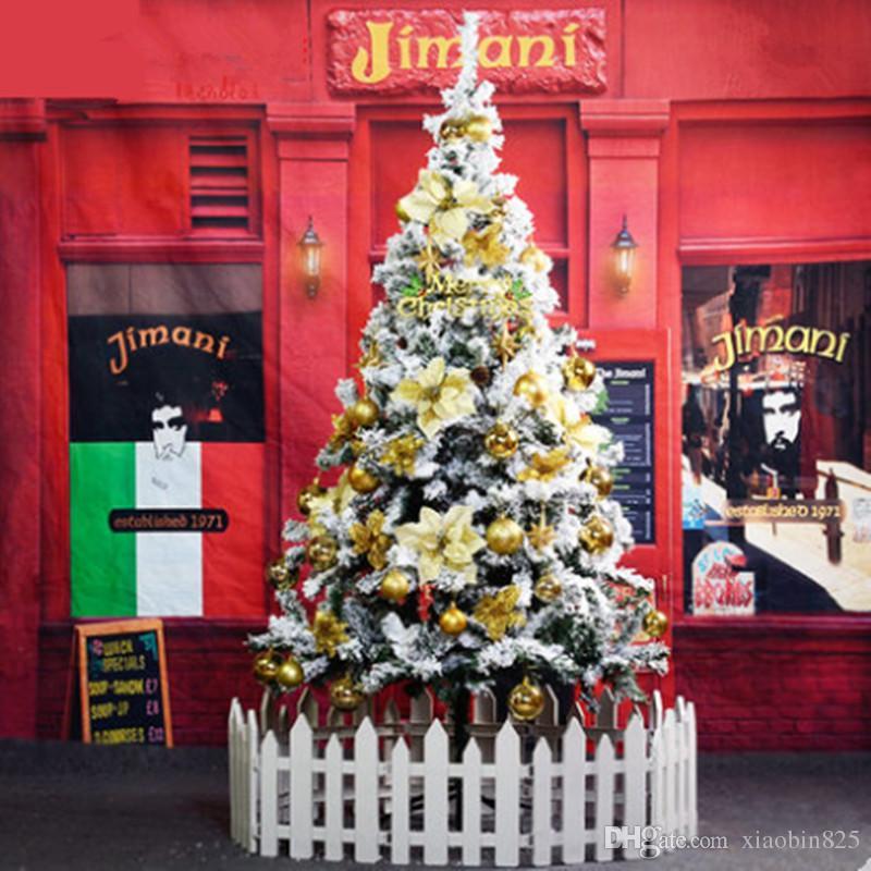 Christmas Tree Spray Snow.1 5 M 150cm White Christmas Tree Flocking Spray Snow Snowflake Christmas Ornament Christmas Tree Encryption