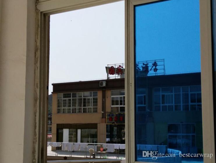 Blue Mirror Chrome Wiindow Tint Film Solar Film For