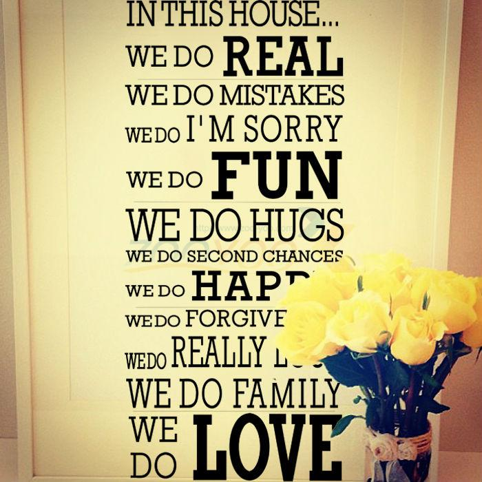 We Love In This House Family Creative Wall Decal Decorative Diy