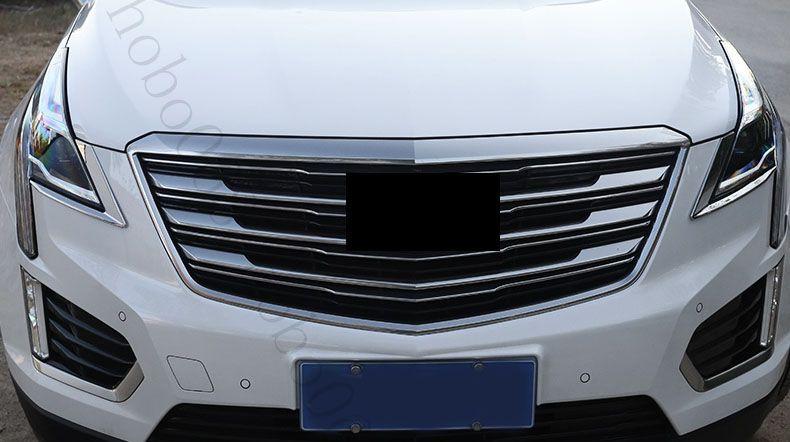 Автомобиль ABS передний Брови фары крышка уравновешивания декоративные Рамы для Cadillac XT5 2016 поделки