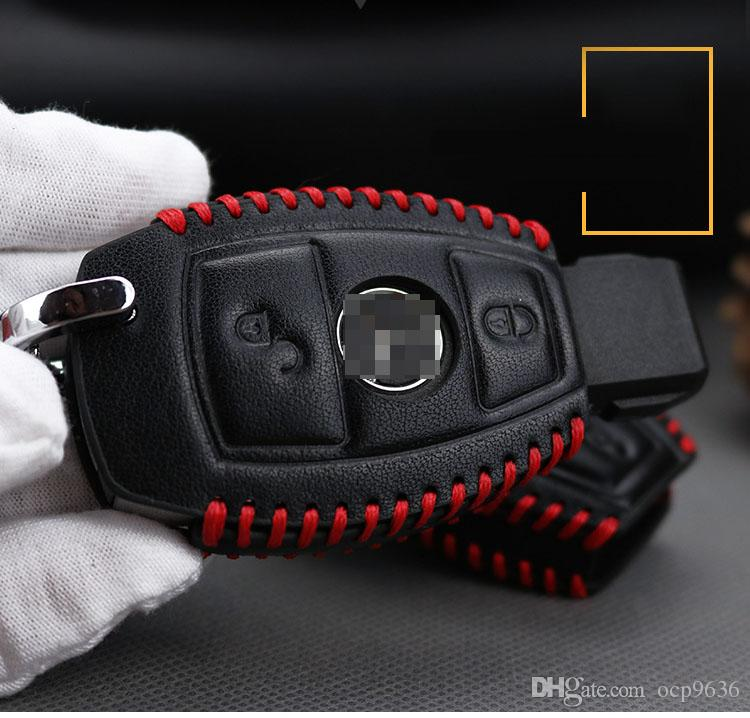 Премиум Кожаный 2 Кнопки Ключа Чехол, Пригодный Для Benz Мерседес