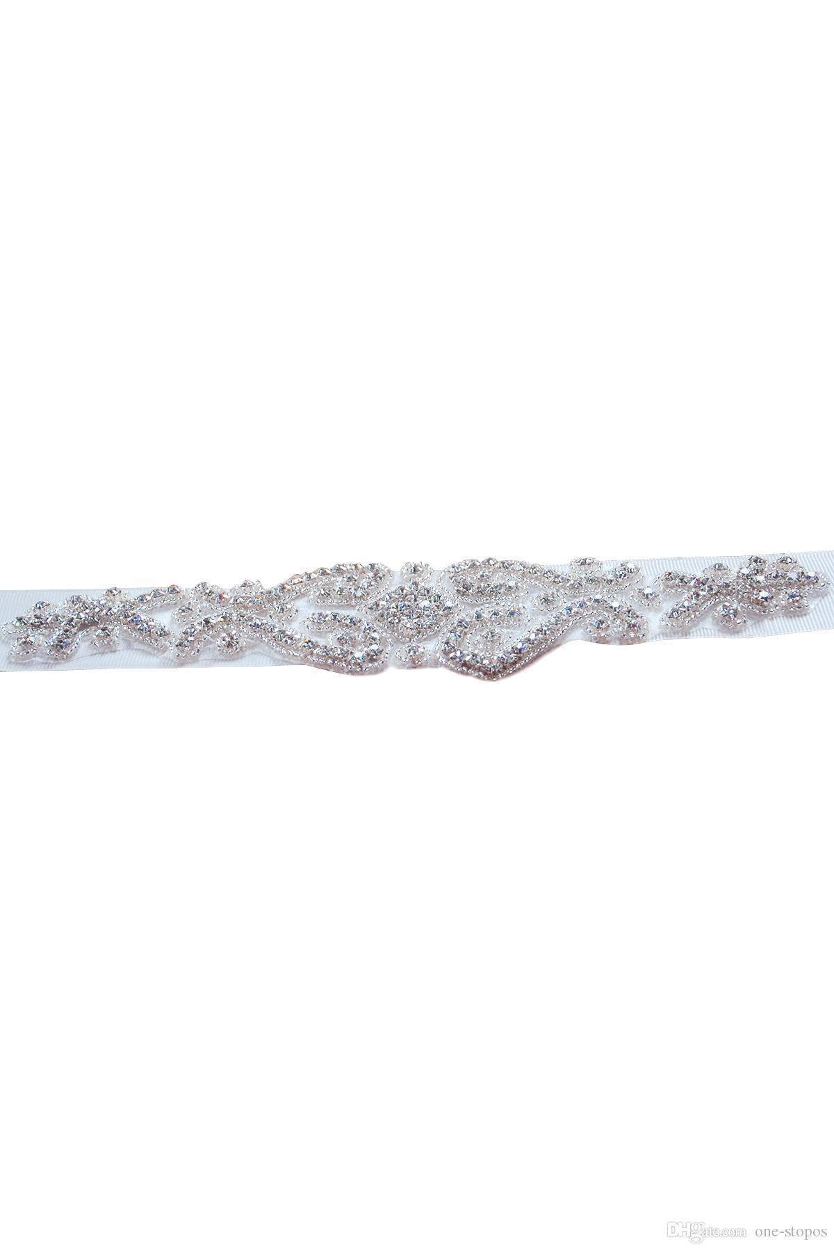 2017 новый горный хрусталь кристалл бисером свадебное платье ютные изображения белый бежевый свадебный ремень дешевый свадьба ремень створки