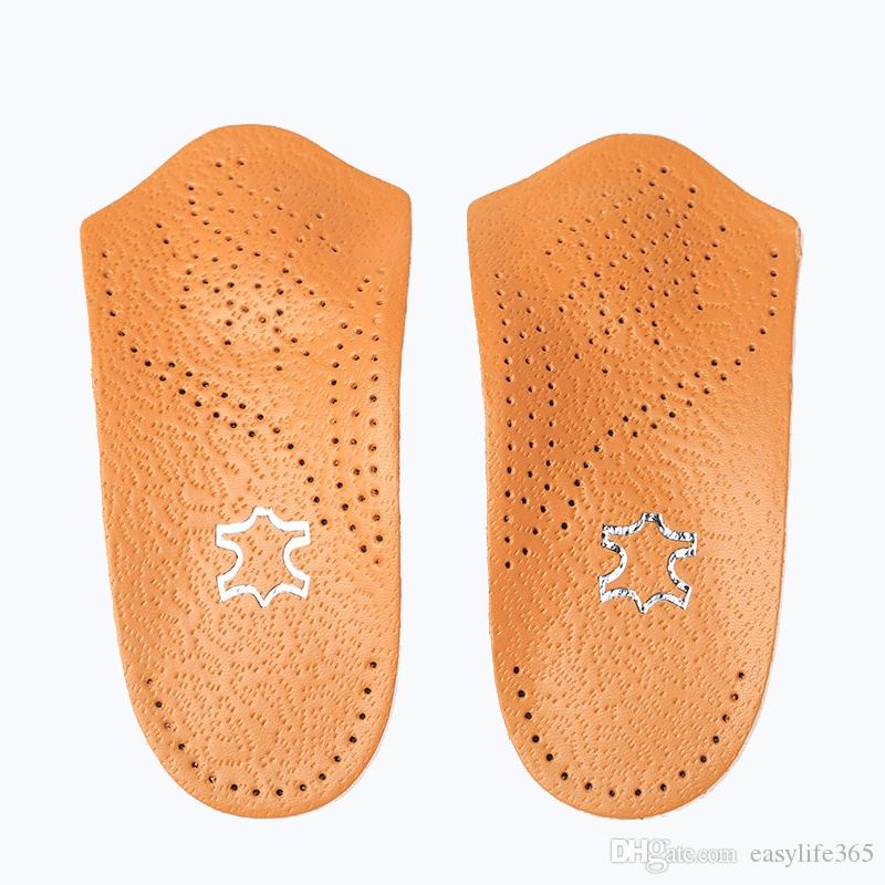 178ddd3e13 (200+) Leather insole arch support orthopedic insoles leather latex shoe  pad flat foot correct 3/4 length orthotic insole feet care