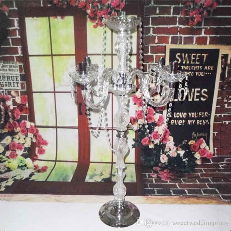 아름다운 크리스탈 캔들 홀더 가정 장식 크리스탈 티 라이트 candelabra 및 웨딩 centerpieces
