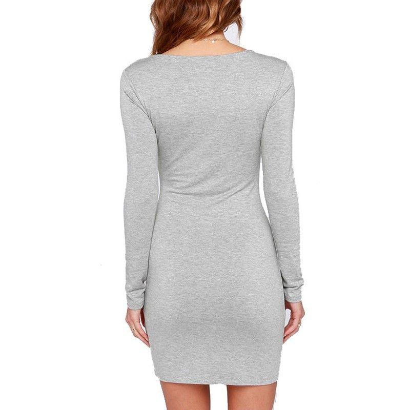 Горячие девушки одеваются Сексуальная мода женские платья чешские платья с длинным рукавом slim fix эластичный элегантный повседневная клуб Bodycon платья LYQ63 РФ