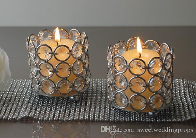 H7cm*W7cm, Fedex/Ems Free Ship, Glass Crystal Votive Candle Holder, Wedding Centerpiece & Home Decoration