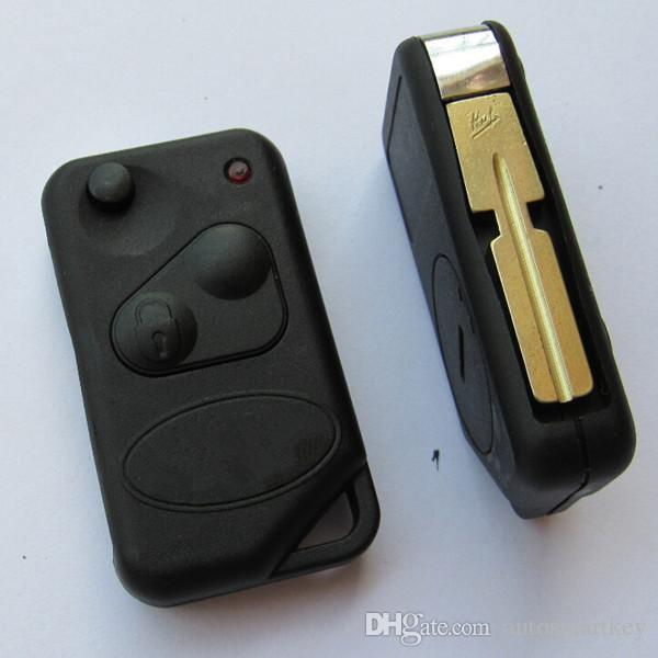 New flip car key shell case for Landrover 2 button key FOB blank discovery remote key cover