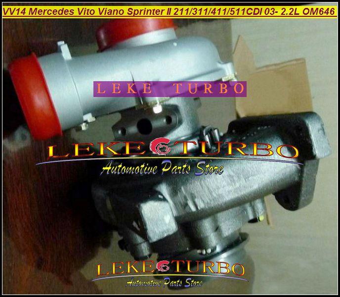 - VF40A132 Mercedes-PKW Sprinter II 311CDI 411CDI 511CDI 2003-09 2.2L OM646 DE22LA VV14 A6460960199 turbocharger