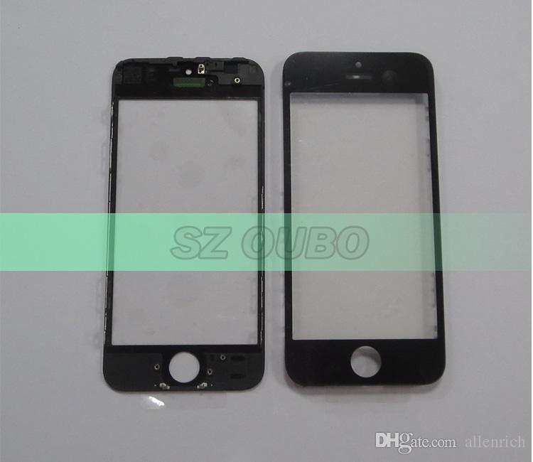Original Front Glass Lens Bezel Frame Assembly for iPhone 5G 5S 5C Outer Screen Touch Panel Repair Replacement