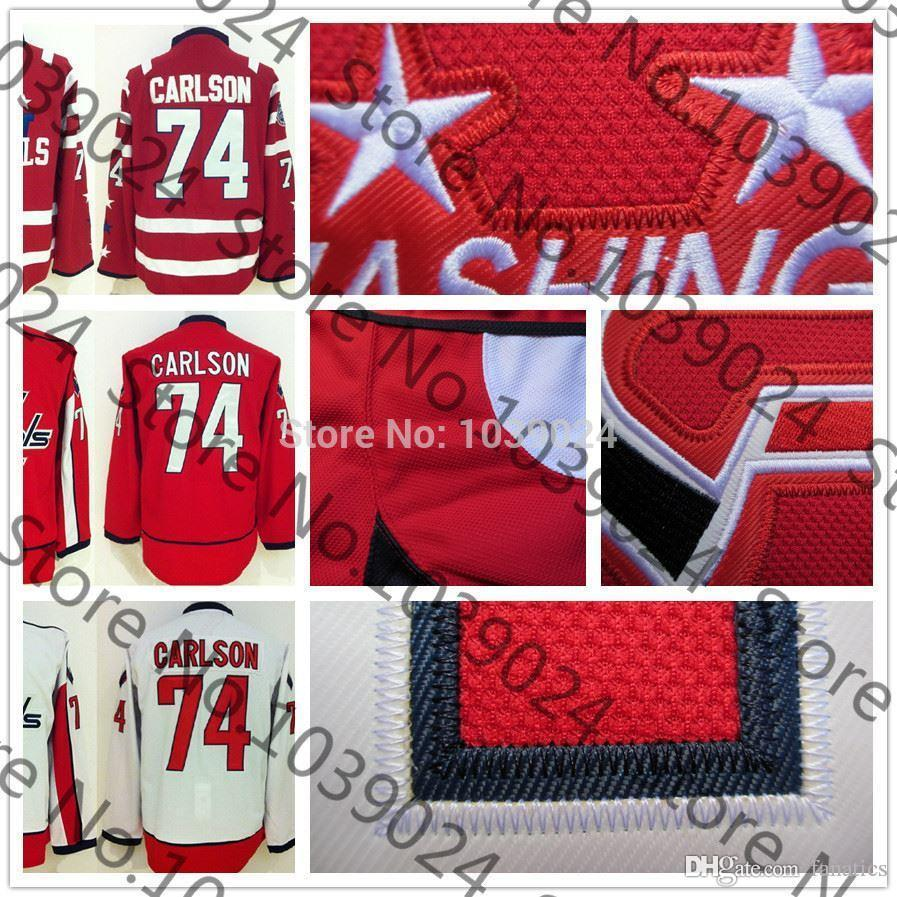 2019 2016 Newest 74 John Carlson Jersey Red Home White Away ef8a71140
