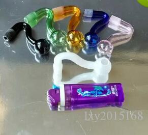 Envío libre al por mayor ----- 2016 nuevo S vitrina, cristal Hookah / accesorios de vidrio bong, entrega al azar de color, spot s /