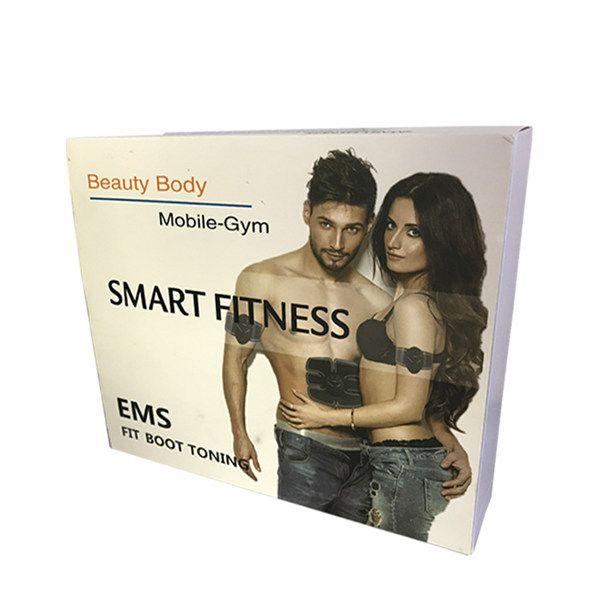 Elétrica Estimulador EMS Abdominal Trainer Músculo Toner Abdominal Braço Musculos Abs Body Pad Esculpir Máquina de Exercício de Fitness Inteligente Massageador