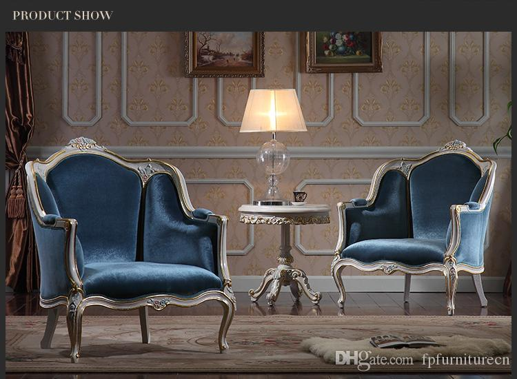 Antique living room furniture- European Classic sofa set with gold leaf gilding -Italian luxury classic furniture