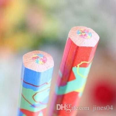 Mixed Colors Rainbow Pencil Art Drawing Pencils Writing Sketches Children Graffiti Pen Drawing Painting Supplies Material Escolar