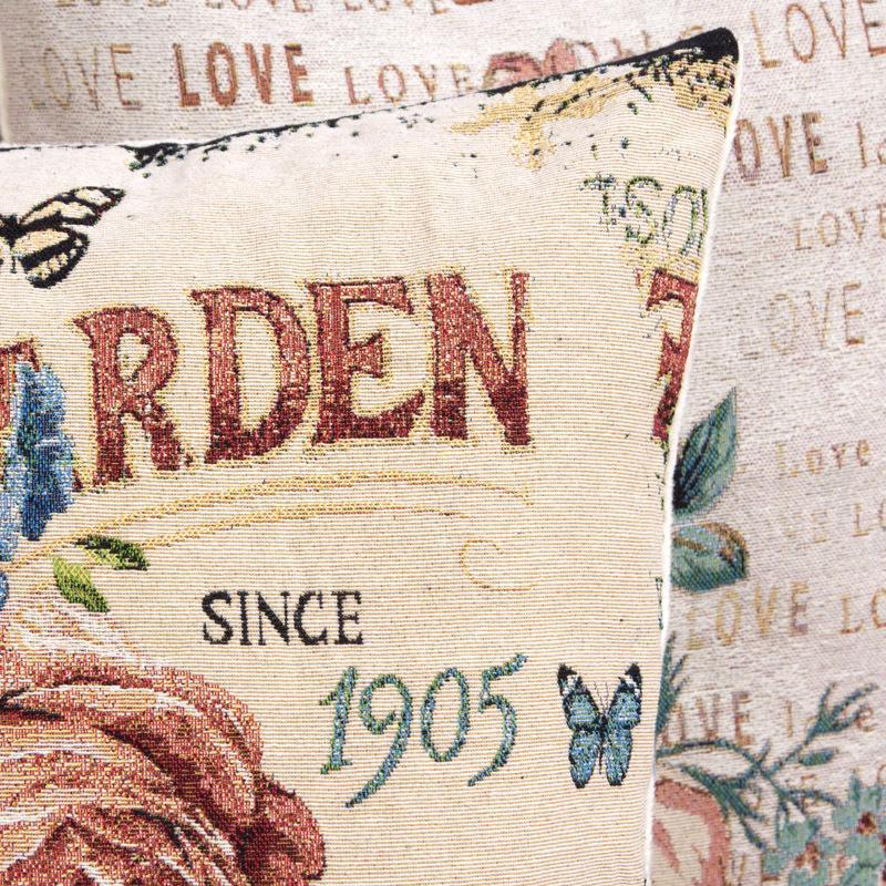 Vintage impression taie d'oreiller w / Paris Tour Eiffel 17,7x17,7 pouces coton lin oreiller coussin housse de coussin taie d'oreiller décoratif