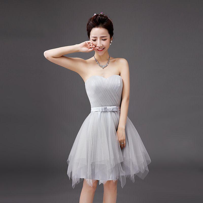 Shanghai Geschichte Vestido Sweet Heart trägerloses Cocktailkleid modische trägerlose kurze Brautjungfernkleider elegant eine Linie Partykleid