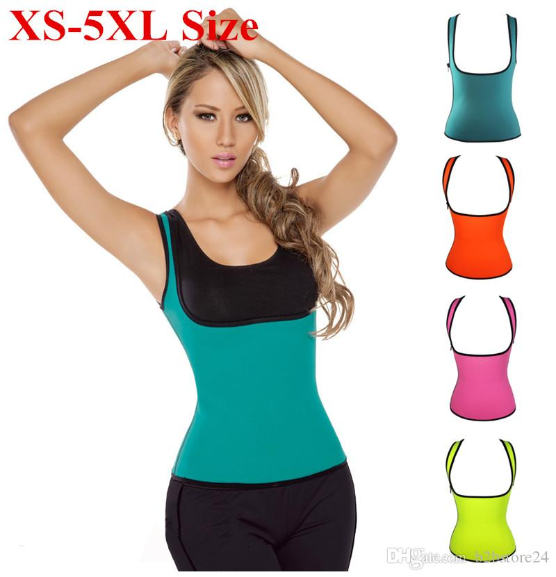 da8c1f62b0e56 2019 XS 5XL Plus Size Waist Training Corset Women Compression Shapewear  Weight Loss Neoprene Sauna Tank Top Vest Waist Cincher Sauna Suit Shaper  From ...