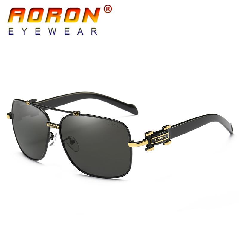 6715d6607 Compre Aoron Homens Polarizados Óculos De Sol Pilot Condução Óculos  Masculino Colorido Eyewear Moda De Alta Qualidade Legal Óculos De Estilo  Com Caixa ...