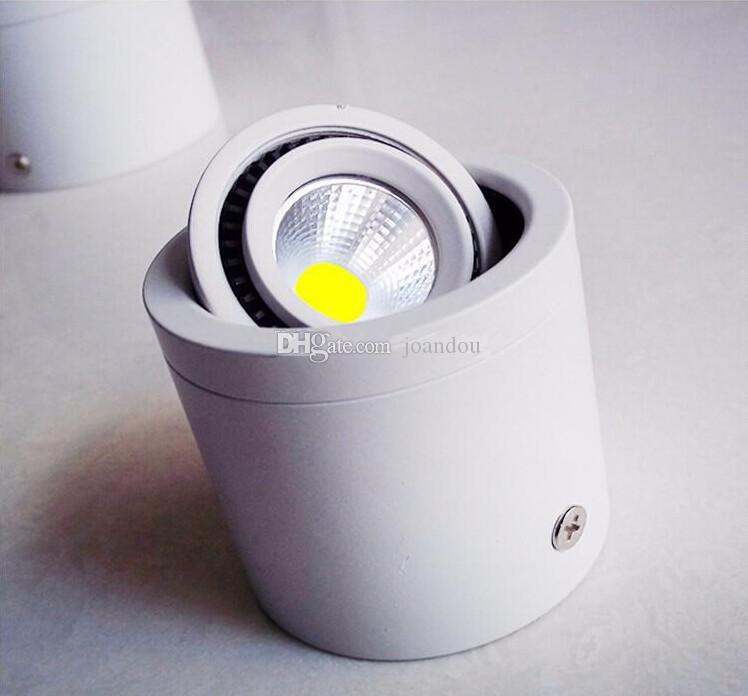 Factory hot sale 7W/10W/15W/20W Surface Mounted LED Downlights AC85V-265V LED Downlight With Black/Silver Housing Colors