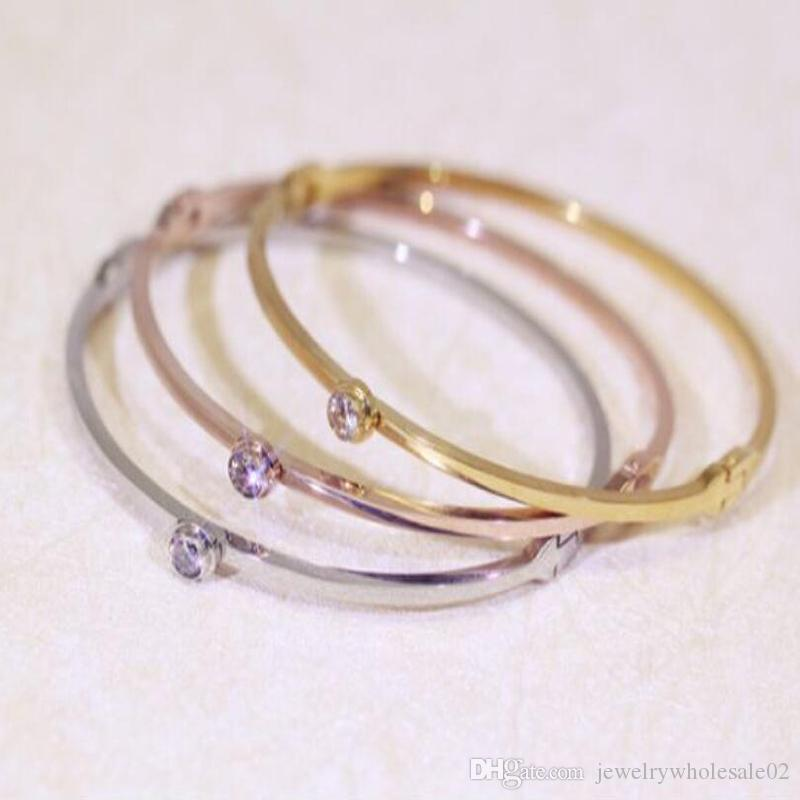 ebay bangle ct fine bn bangles single s gold by the bezel b bracelets diamond diamonds rose yard chain bracelet inch