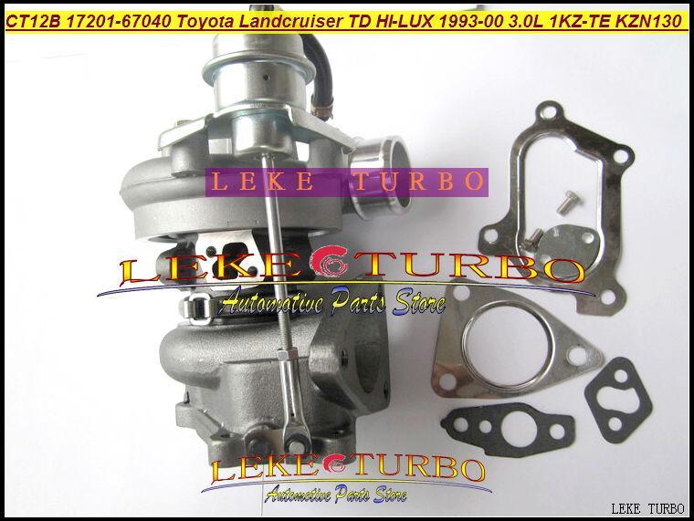 CT12B 17201-67010 17201-67040 TOYOTA LANDCRUISER 1KZ-TE 125HP HI-LUX KZN130 4 Runner 1993 3.0L D turbocharger (4)