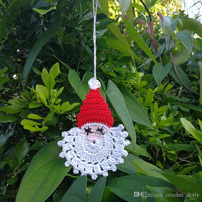 Set of 12 crochet Santa Claus faces ornaments,Christmas winter decor,tree ornaments,Christmas tree,Christmas ornaments,Santa Claus face