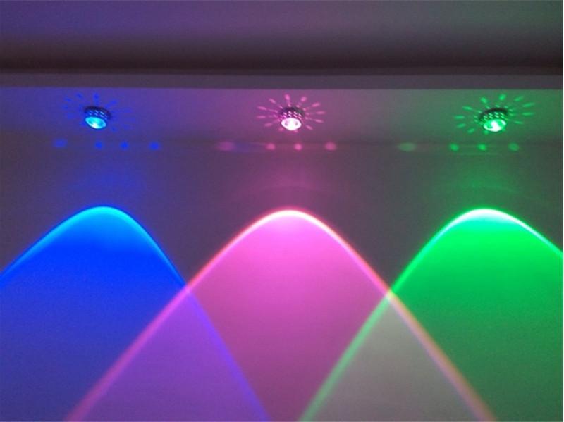 3W Crystal Led luces de techo restaurante ktv pasillo sala de estar balcón lámpara moderna iluminación led para decoración del hogar luminaria