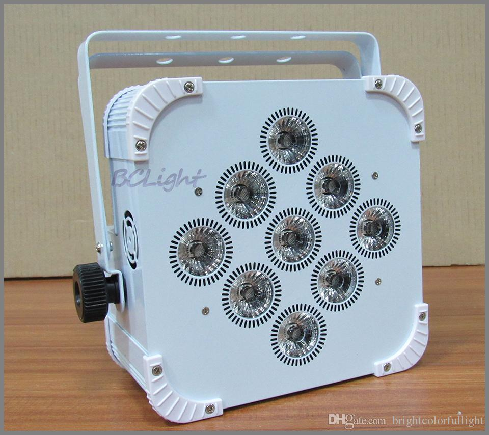 1 fly case new design 9x18w RGBWAUV 6 IN1 Battery operated wireless dmx led stage light led flat par uplight
