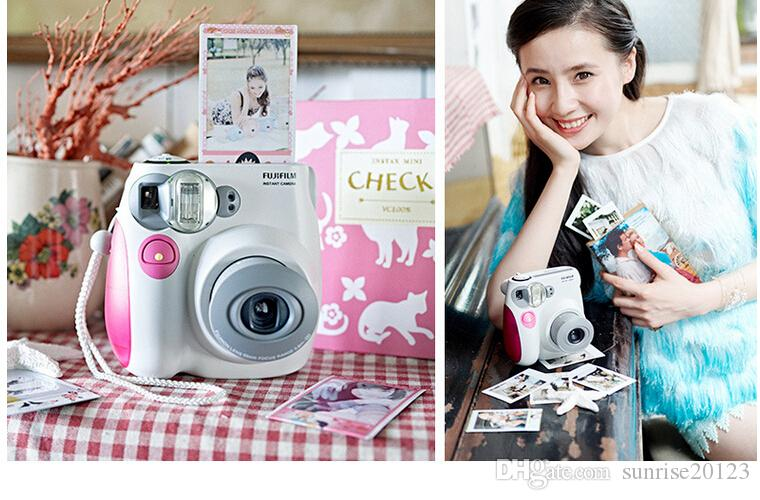 Jingle shot a beauty essential imaging Polaroid camera pink blue AF flash mini7S