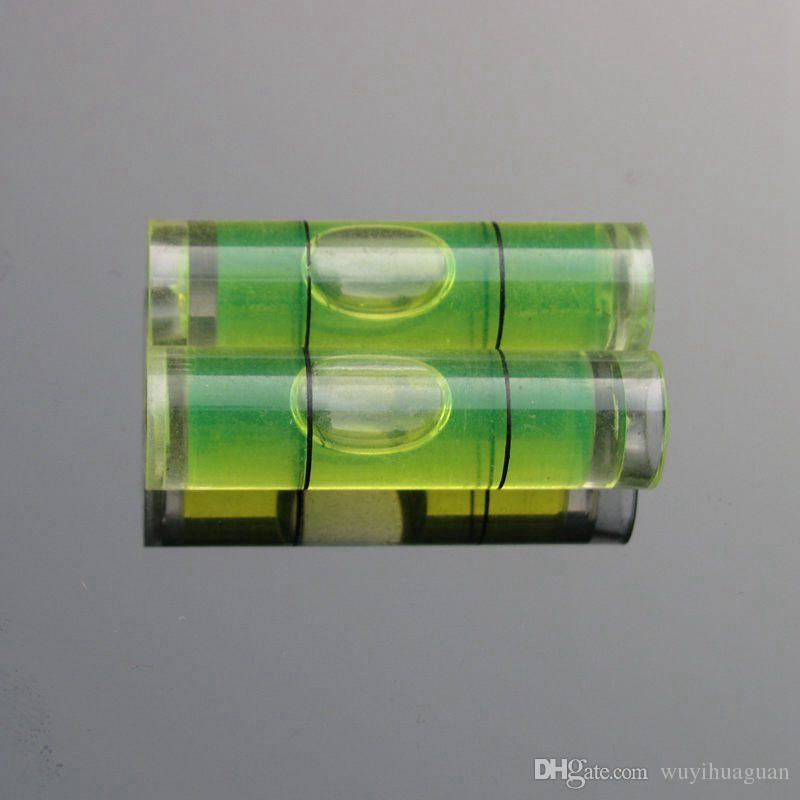 Haccury 25 pezzi / lotto 9.5 * 34 mm Parti livellatrici a bolla di livello a bolla di plastica