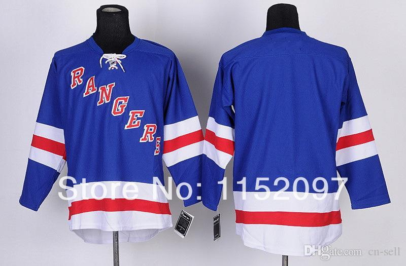2019 2014 New York Rangers Blank Jersey NO NAME NO NUMBER Ice Hockey Jersey  Cheap Uniform Home Team Color Light Blue 100% Embroider From Cn Sell 76575e6c1