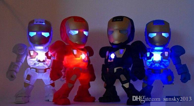 Altoparlante portatile mini Iron Man con ferro da stiro bambini con luce LED Robot C89 Altoparlanti wireless Bluetooth Stereo HiFi Stereo TF USB MP3 Player