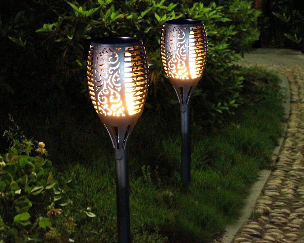 KYFL01,Nouveau LED Solaire Flamme Lampe Flamboyant Lampe de Poche Lumière Flicker Solaire Alimenté Lampe Décorative Étanche Pour Jardin Chemin Pelouse Lampe