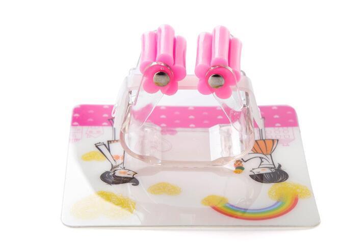 Симпатичные карикатуры кухня бесшовные моющиеся сильные палки самоклеющиеся пластиковые швабры стойка организатор хранения ванной швабра веник держатель вешалка